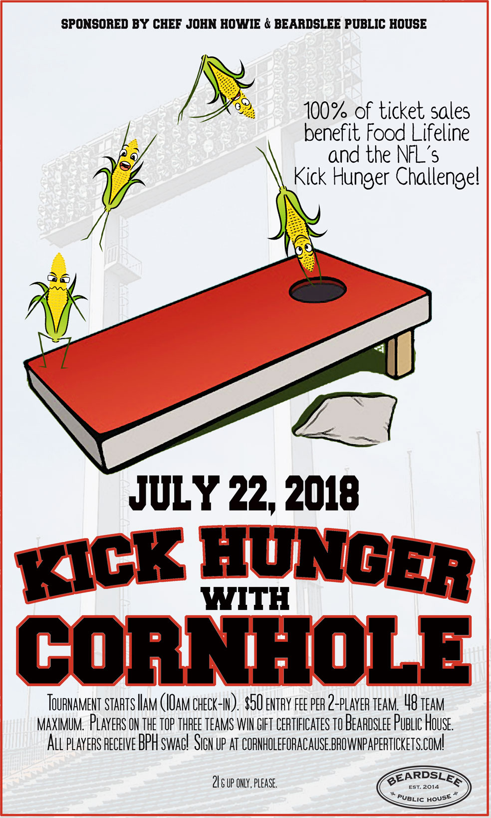 Cornhole Tournament Kick Hunger Challenge John Howie Beardslee