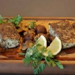 MUSHROOM-CRUSTED-HALIBUT-BAKED-ON-A-CEDAR-PLANK